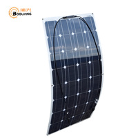 Boguang 8 pcs 100 W 12V Monocrystalline semi flexible Solar panel 800W cell kits house camping RV yacht Car Roof wall 800 watt