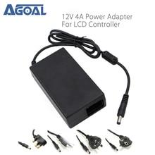 Ac 100 240V Naar Dc 12V 4A 48W Voeding Adapter Voor Led Strip Licht Cctv security Camera Monitor V56 Us/Uk/Eu/Au Plug Standaard