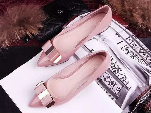 2017 shallow mouth bow pointed singles shoes,female bowknot metal flat shoes sweet comfortable sequins shoes 2017 the new european american fashion horn bow pointed mouth shallow comfortable flat sheet metal red shoes tide size 35 41