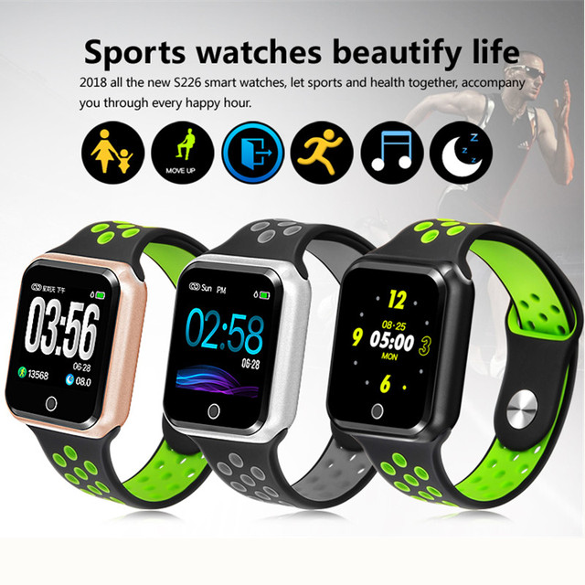 classic fit c4bcd 24ea2 US $20.0 10% OFF|New Bluetooth S226 Smart Watch Heart Rate Monitor  Smartwatch for apple iphone 7 plus samsung huawei ios Android phone PK  GT88-in ...