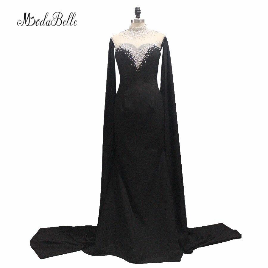 Fantastische 2017 Lange Perlen Schwarze Abendkleider Transparent ...