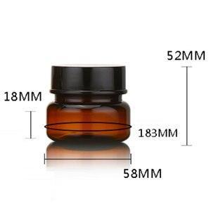 Image 5 - 60g X 24 Güçlü PET Kavanoz döner kapaklı şişeler Boş Krem plastik saklama kutusu Açık Kahverengi Kozmetik Krem Pot Kavanoz Makyaj Şişeleri 2 OZ