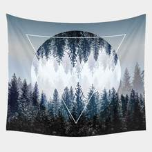Beautiful Night Sky Wall Tapestry Home Decorations Wall Hanging Forest Starry Night Tapestries For Living Room Bedroom(China)