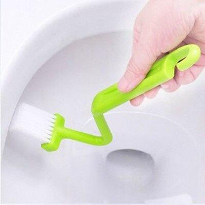 Hot przydatne zakrzywione małe łazienka kuchnia szczotka do toalety rogu Rim Cleaner Bent Bowl uchwyt akcesoria do czyszczenia domu