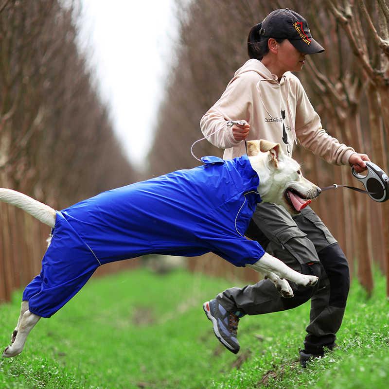 Cho Thú Cưng Chó Áo Mưa Phản Quang Chống Thấm Nước Dây Kéo Quần Áo Cổ Cao Có Mũ Trùm Đầu Jumpsuit Cho Nhỏ Chó Lớn Áo Liền Quần Đi Mưa Áo Labrador
