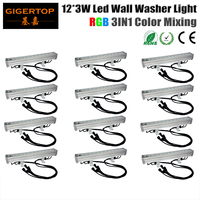 Wholesales 12Pcs Lot 12 9W 3IN1 Led Bar Light Outdoor Led Washer Light RGB Waterproof DMX