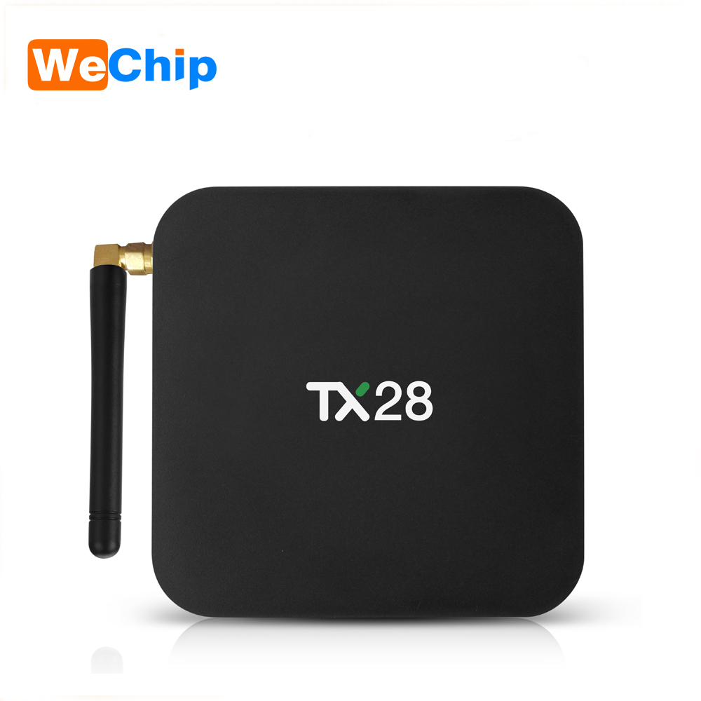 Wechip TX28 TV Box RK3328 Quad Core Android 7.1 TV BOX 2.4G+5G Wifi 4G+32G Smart Android Box BT4.1 Media Player 4K OTT IPTV Box