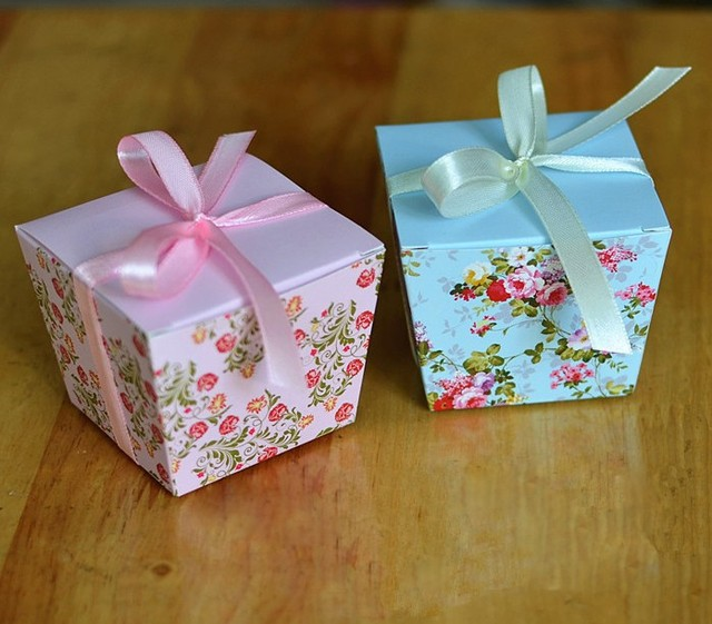 2017 new elegant korean wedding favor candy boxes bridal shower