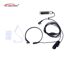 New Throat Headset M Plug Earpiece Earphone font b Walkie b font font b Talkie b