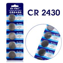Células de Lítio Venda Quente 5 PCS 3 V Coin Botão Bateria Cr2430 Dl2430 Br2430 Ecr2430 Kl2430 Ee6229