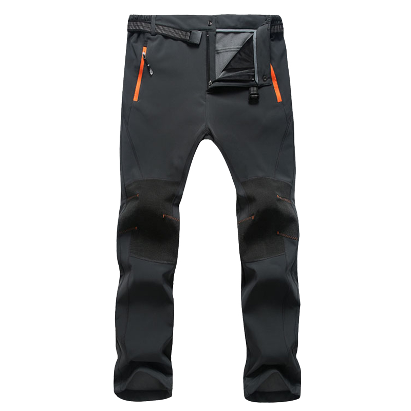 Men's Waterproof Winter Warm Fleece Pants Quick Dry Softshell Long Trousers Women Windproof Thermal Tactical Stretch Cargo Pants