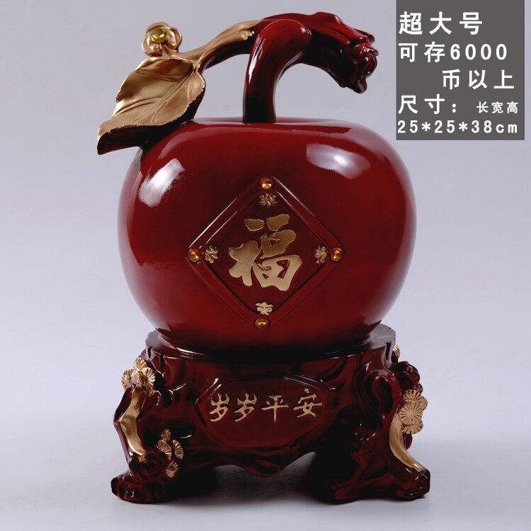 Tirelire pomme rouge grand salon créativité résine tirelire Feng Shui nous garder en sécurité ornements cadeau