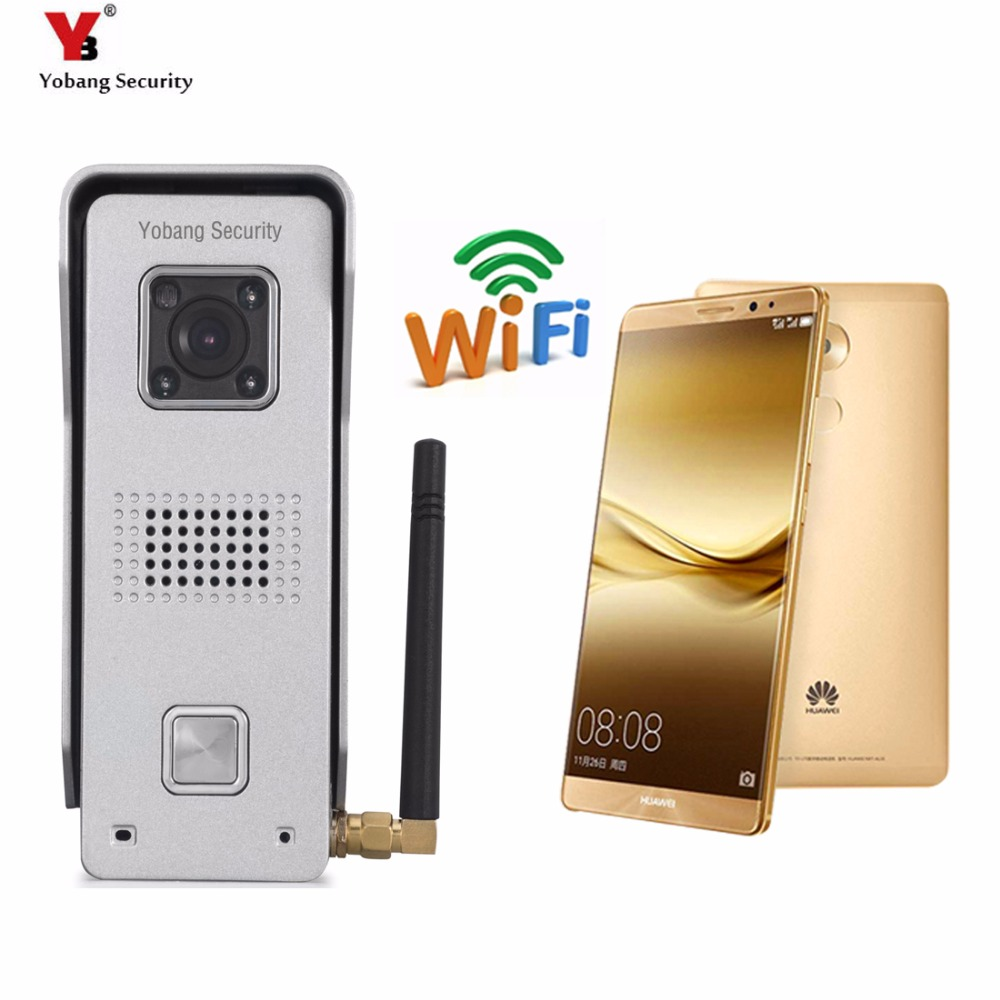 YobangSecurity Metal Case Wifi Video Door Phone Wireless Intercom Enabled Video Doorbell Support  APP Android IOS 2016 new wifi doorbell video door phone support 3g 4g ios android for ipad smart phone tablet control wireless door intercom