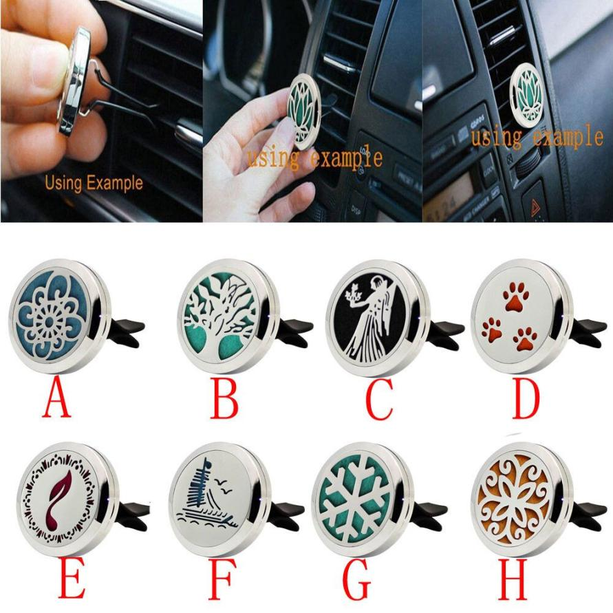 Muqgew Air Fragrance Stainless Car Air Auto Vent Freshener Essential Oil Diffuser Gift Locket Decor Elegant Dropshipping Usps Always Buy Good Air Freshener