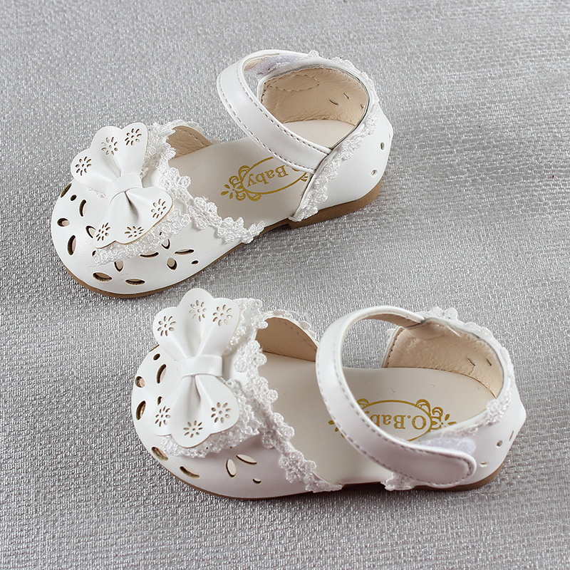 HTB1qxSBINWYBuNjy1zkq6xGGpXaK - Newest Summer Kids Shoes Fashion Leathers Sweet Children Sandals For Girls Toddler Baby Breathable Hoolow Out Bow Shoes