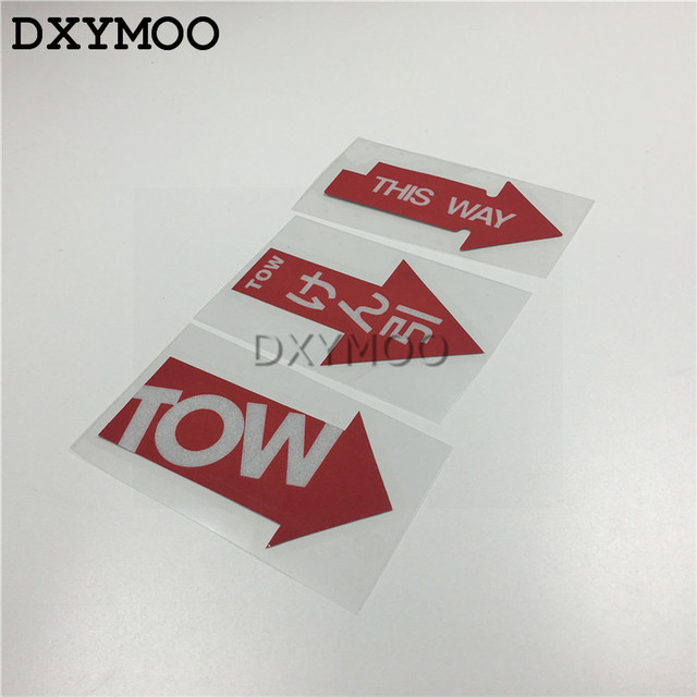 PCS Warning TOW Car Stickers HF Hellaflush THIS WAY Motorcycle - Vinyl stickers for motorcyclesaliexpresscombuy hellaflush car stickers vinyl waterproof