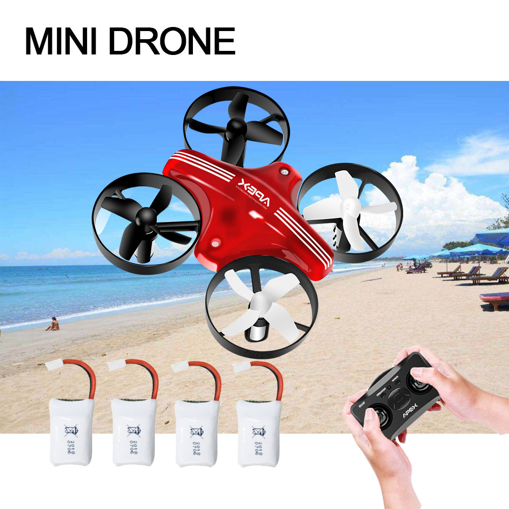 ATOYX Mini Drone RC Quadcopter Remote Control RC drone Helicopter 4CH 6Axis Hold Altitude Mode Headless with 4Batteries toys nihui u807c headless mode rc quadcopter 2 4g 4ch 6axis helicopter drone with 2 0mp hd camera rtf remote control toy kids gift