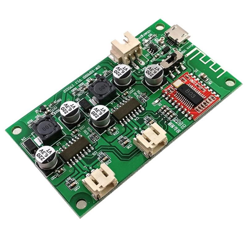 2 Channel Stereo Bluetooth Digital Audio Power Amplifier Board 2X6W Speaker Audio Amplifiers Lithium Battery Powered in Amplifier from Consumer Electronics