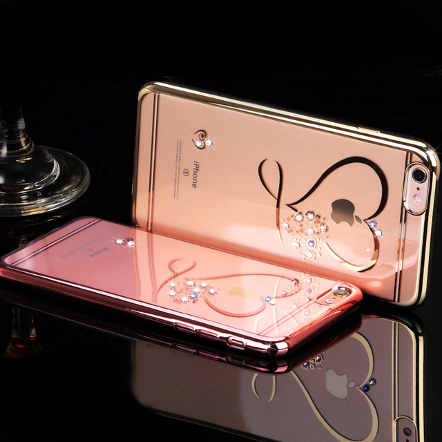 For iphone 5 5s SE 6 6S 6Plus 6SPlus Ultra Thin Clean Soft TPU Crystal Phone Cases
