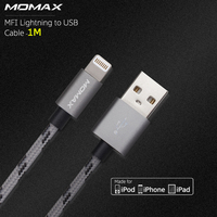 Momax 1m Fast Data Lightning USB MFI Cables For IPad Air Braided Cord Charging Cable For