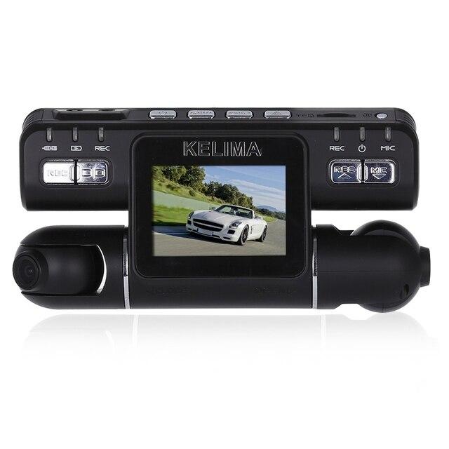 KELIMA - 020 Car DVR Recorder Camera 270 Degree Rotation Dual Cameras 2.0 inch Car DVR 1080P FHD Support G-sensor 32G TF Card
