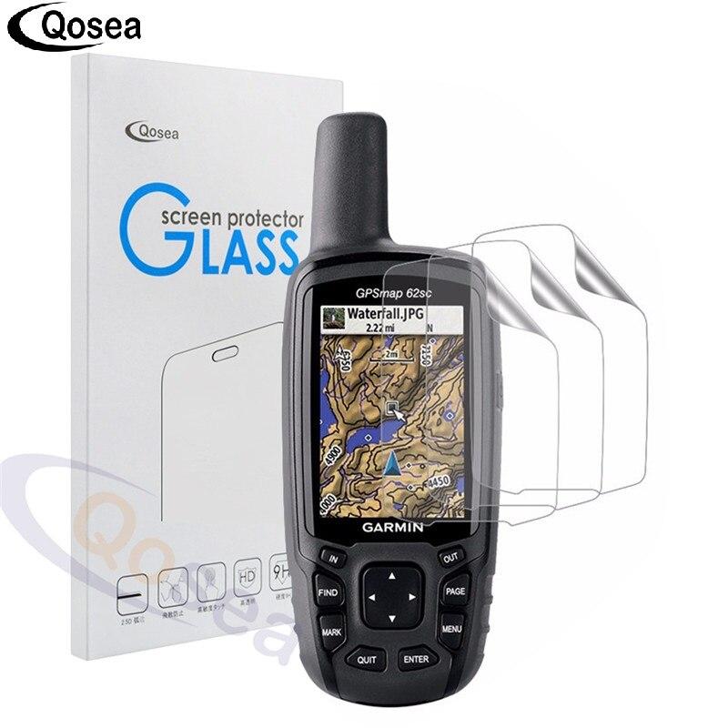 Qosea (3 pack) pour Garmin GPS GPSMAP 62 62 s Protecteur D'écran 3X Clear LCD Écran Protecteur Guard Shield Peau Antidéflagrants Film