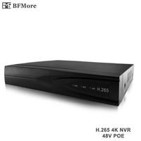 BFMore H 265 8ch 48V POE NVR 4K Output IP Camera CCTV DVR Network P2P Recorder