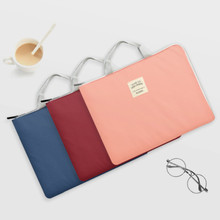File-Folder Document-Bag Travel Handbag Handle Business Oxford with Zip-Closure Cloth-Book