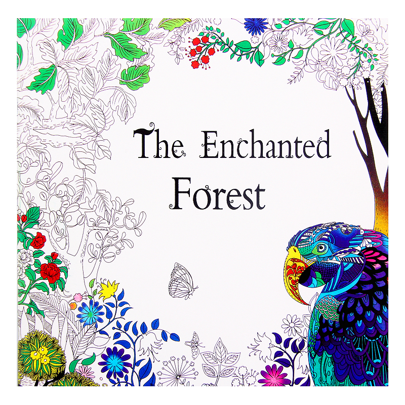 The Enchanted Forest Colouring Book Childhood Dream Painting Drawing Coloring Books Painting Johanna Basford Release Pressure