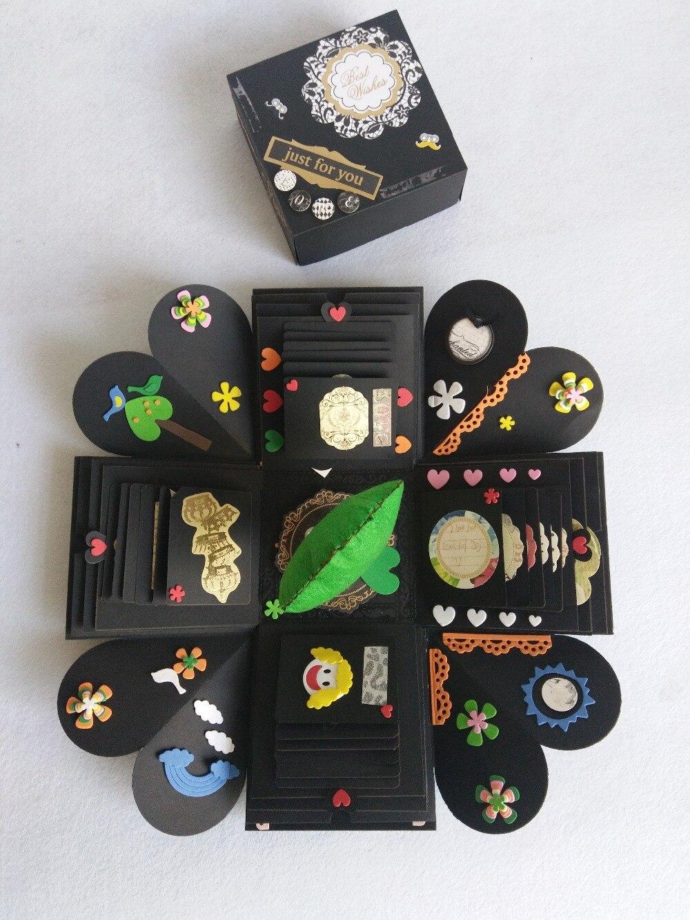 Handmade gifts & DIY organs explosion box photo album to send her boyfriend photo husband husband and wife birthday gift for boyfriend on anniversary