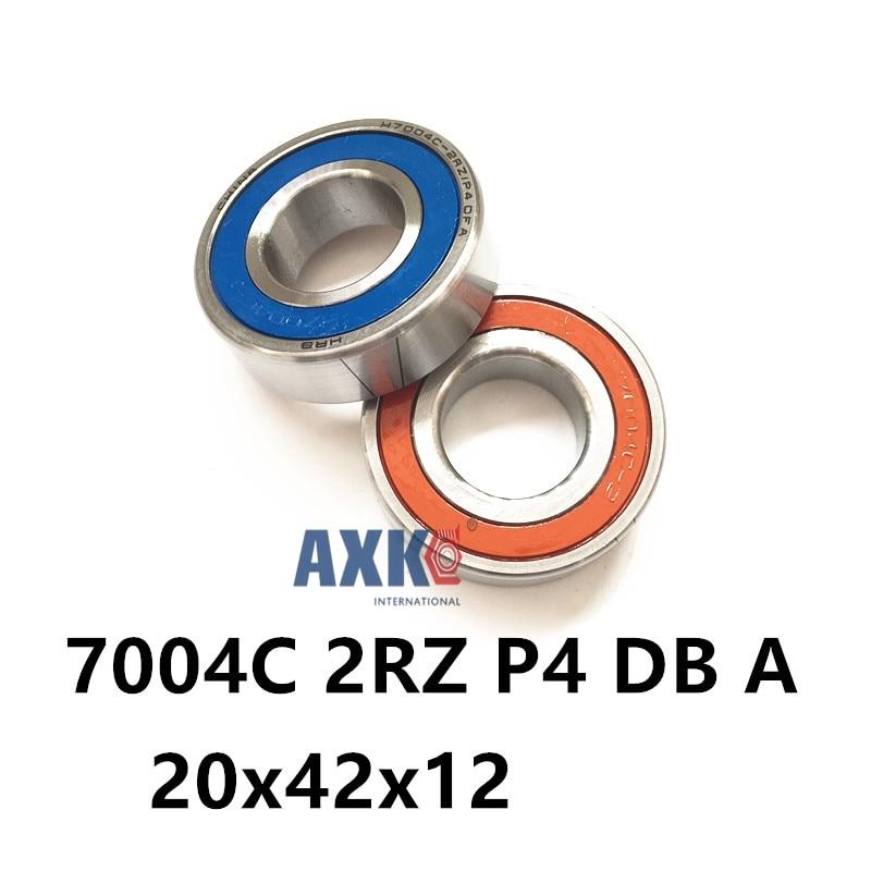 1 Pair AXK  7004 7004C 2RZ P4 DB A 20x42x12 20x42x24 Sealed Angular Contact Bearings Speed Spindle Bearings CNC ABEC-7 1pcs 71901 71901cd p4 7901 12x24x6 mochu thin walled miniature angular contact bearings speed spindle bearings cnc abec 7