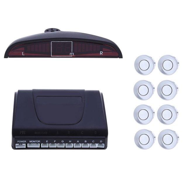 Best 8 Sensors Car detector Car LED Parking Sensor Kit 22mm 12V for All cars Reverse Assistance Backup Radar Monitor System