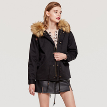 Winter New Korean Version of the Large Size Fur Collar Hooded Cotton Lamb Cotton Coat Large Size Casual Self-cultivation недорого