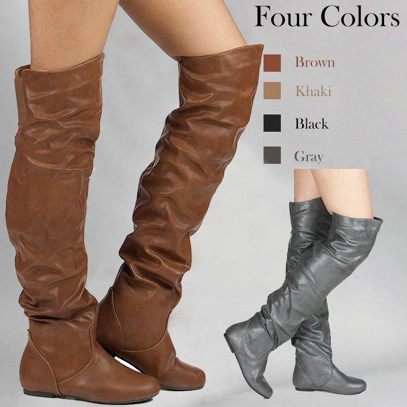 ac0eba8e13595 MAZIAO Winter Warm Faux Fur Women Knee High Boots Soft Leather Fashion Side  lace-up New ...