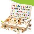 Многофункциональная обучающая коробка двойная магнитная доска Монтессори Деревянные игрушки развивающие детские алфавиты арифметическа...