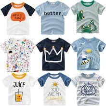 CALOFE Torridity/детская футболка для мальчиков; футболки для маленьких девочек с рукавами-коронами; хлопковая детская футболка; футболки с круглым вырезом; Одежда для мальчиков