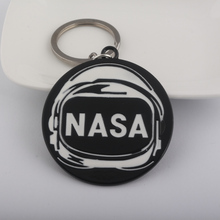SG Fashion National Aeronautics and Space Administration Key Chains Letter NASA Round Keyring Pendant For Man And Woman Jewelry(China)