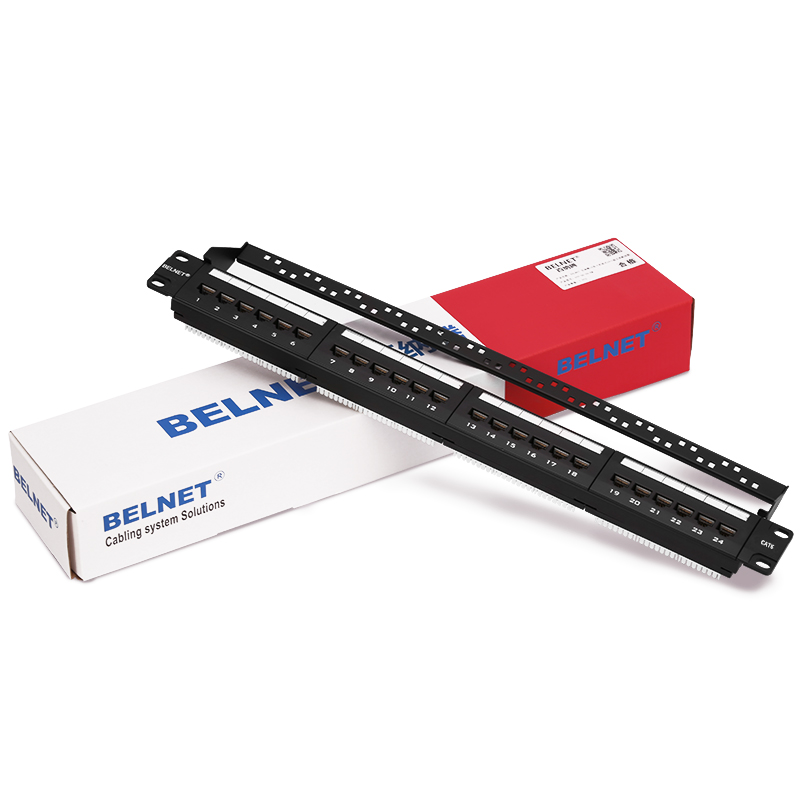 BELNET 24 port RJ45 CAT6 Patch Panel 1U 19