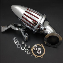For Harley Davidson CV Carburetor Delphi V-Twin Motorcycle Air Cleaner Kit Intake Filter CHROME