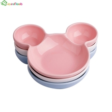 Ceramic Mickey Mouse Baby kids plate  Infant Cake Plates Porcelain Pastry Fruit Tray Ceramic Tableware Snack Dish