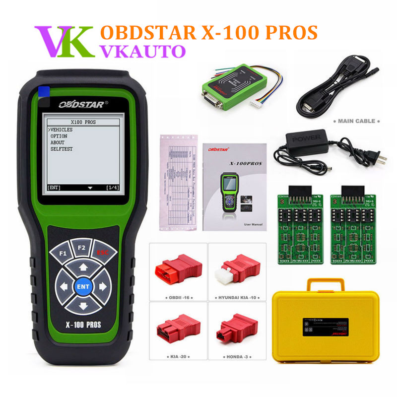 OBDSTAR X100 PROS C+D+E model Key Programmer with EEPROM Adapter + Immobilizer + Odometer Adjustment Free Shipping