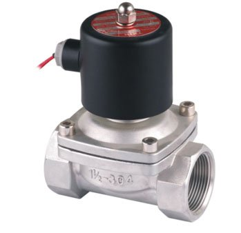 цена на Free Shipping 2PCS 40mm Stainless Steel Normally Closed 2 Way VITON Oil Acid Solenoid Valve AC220V 1.5'' Ports