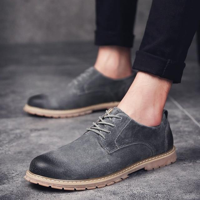 Haute Hommes Suede Anti Chaussures Wingtip Casual Slip 2017 Qualité vxHdpnwqw