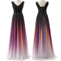LOVEBATU Brand Summer Hot Sale Sashes Gradient Color Pretty Party Dress