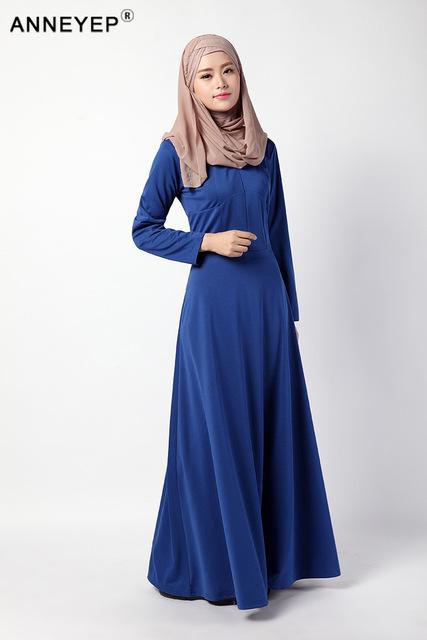 Knitted Cotton ABAYA MUSLIM DRESS CLOTHING LONG BIG SIZE