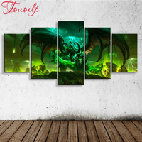 movie World of warcraft photo 5D Diy Diamond Painting Photo Mosaic Drill Resin Full Embroidery 3D Cross Stitch Kits Home Decor