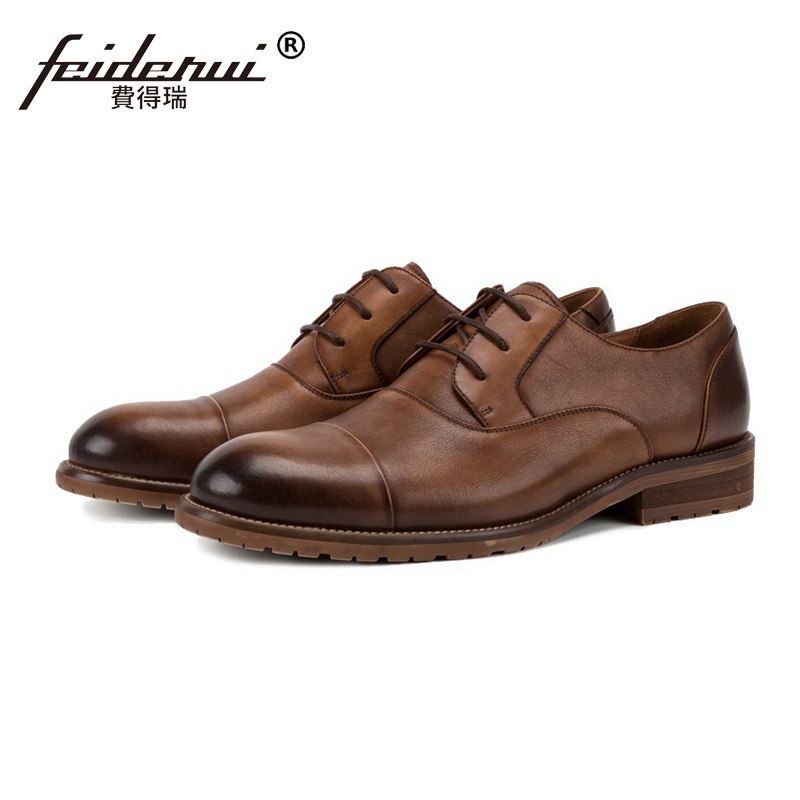 New Fashion Genuine Leather Mens Handmade Footwear Luxury Round Toe Wedding Party Flats Formal Dress Derby Man Shoes SS116New Fashion Genuine Leather Mens Handmade Footwear Luxury Round Toe Wedding Party Flats Formal Dress Derby Man Shoes SS116