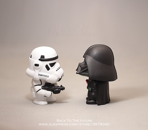Disney Star Wars 10cm Anime Figure doll Action Force Awakens Black Series Darth Vader toys model For children gift 1