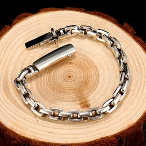 Image 4 - Мужской винтажный браслет ZABRA, браслет из настоящего серебра 925 пробы с крестом, толщина 7 мм, длина по индивидуальному заказу, ювелирные изделия