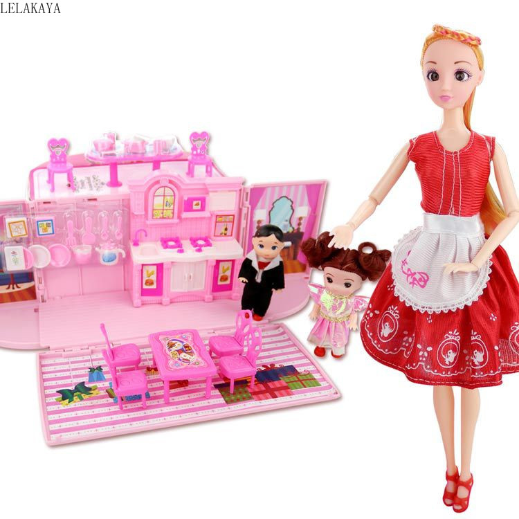 Faire semblant de jouer meubles jouets ensemble dessin animé Mini créatif en plastique Cosplay filles belle Simulation Mini créative maison de rêve poupée nouveau